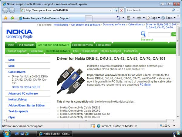 descargar nokia connectivity cable driver